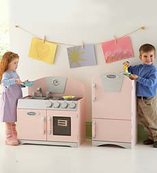 kid kitchen play wooden