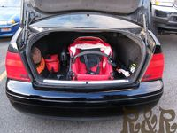 B-Ready in compact sedan trunk