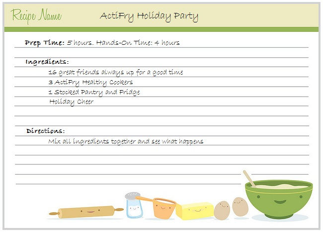 ActiFry Holiday Party Recipe