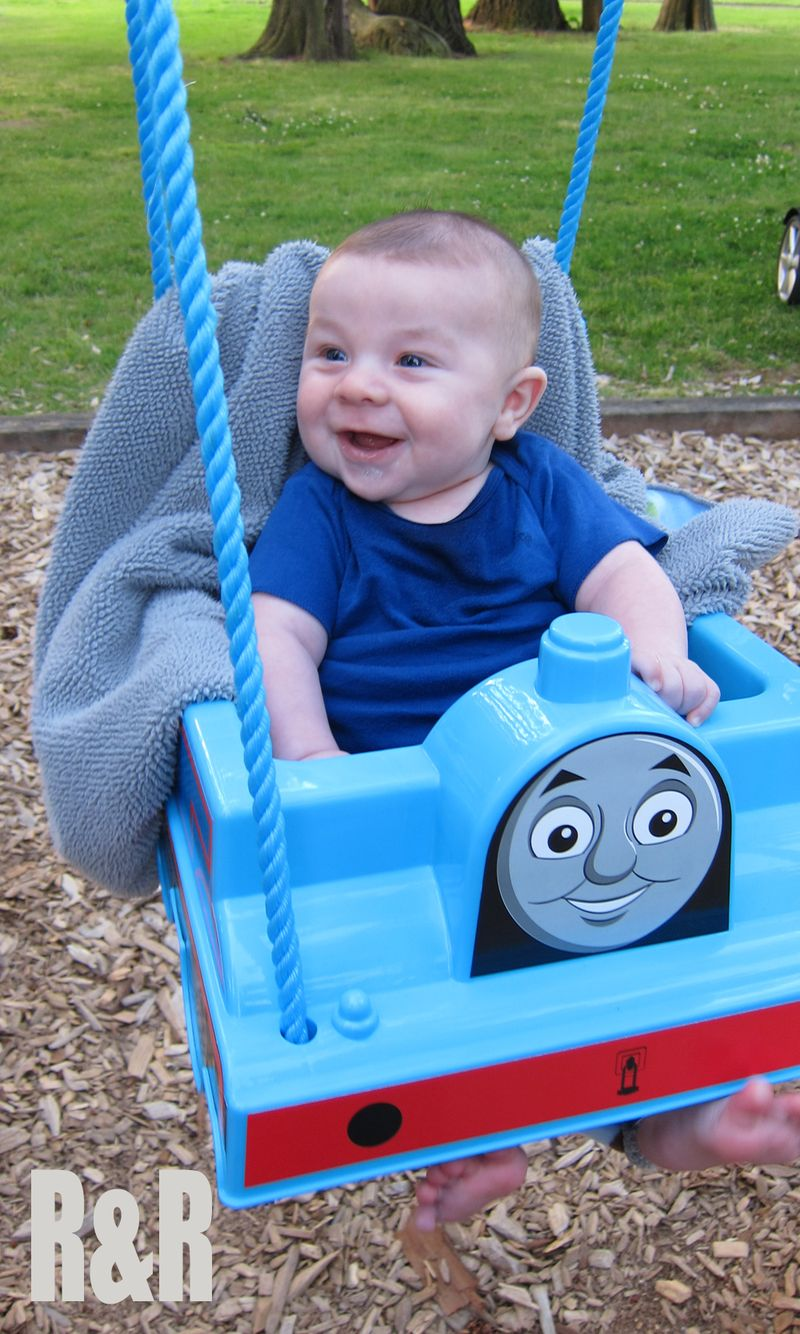 Baby in Thomas Swing