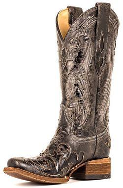 Corral Vintage Black Python Boots