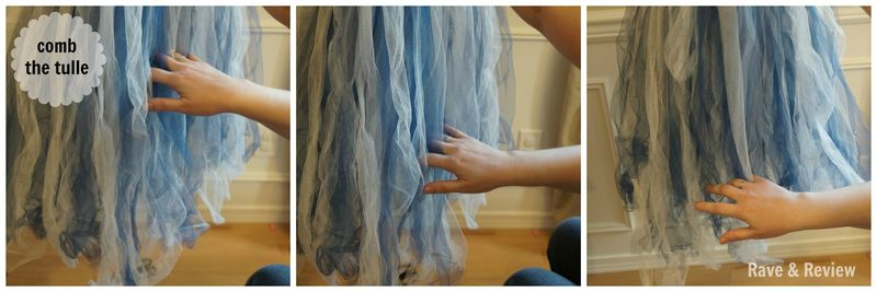 Combing the tulle