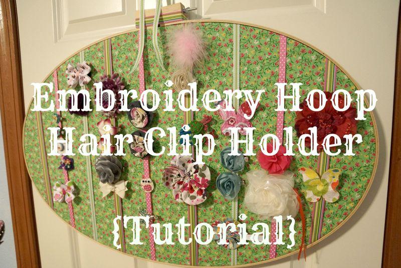 Embroidery Hoop Hair Clip Holder Tutorial