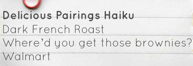 Delicious Pairings haiku
