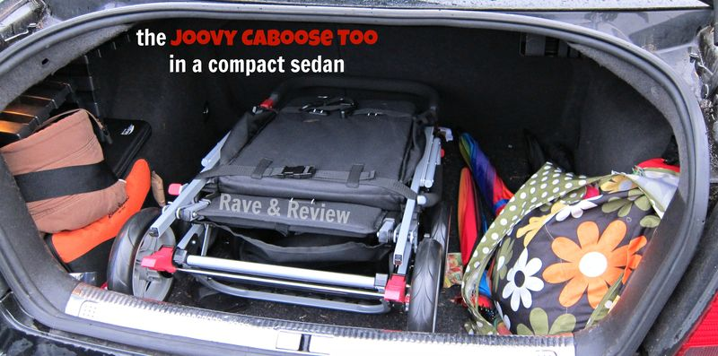 Joovy Caboose Too in trunk