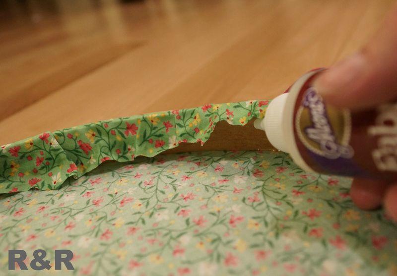 Gluing fabric