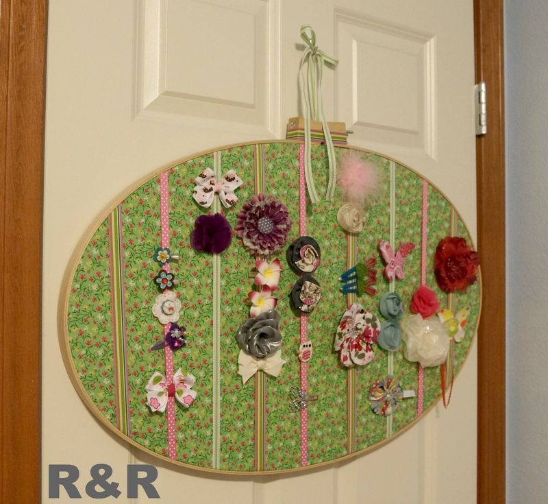 Embroidery Hoop Bow Holder