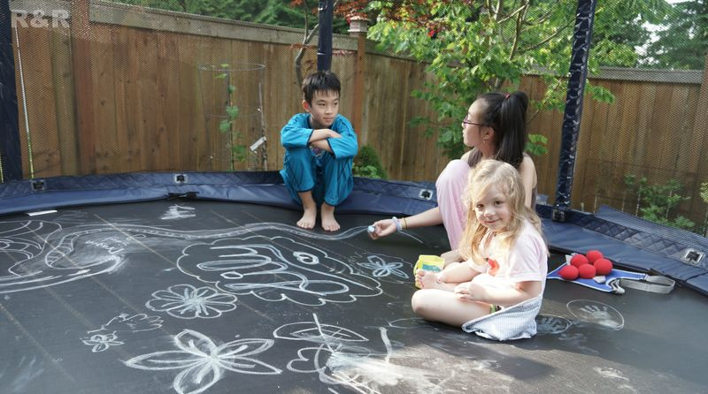 Chalk on the Trampoline