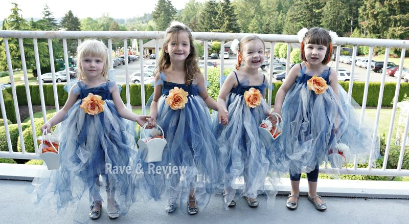 Flower girls standing