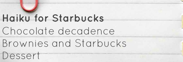 Haiku for Starbucks