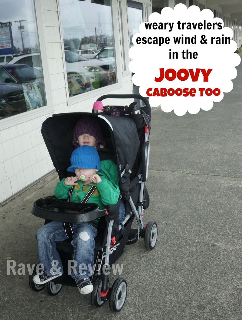 Escape wind and rain in the Joovy Caboose Too