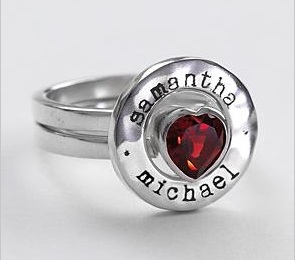 Red Envelope Stacking Love Ring