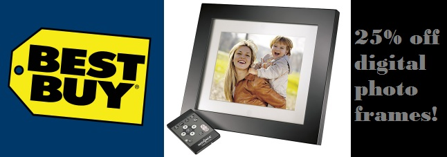 25 percent off digital photo frames