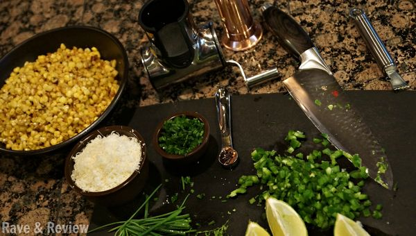 Roasted corn appetizer with manchego cheese and lime recipe - Rave ...