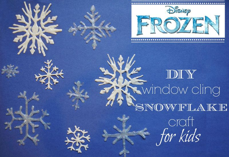 Window cling snowflake craft