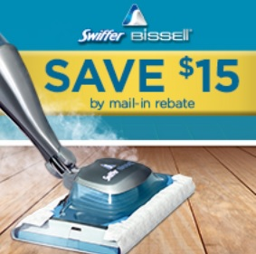 Swiffer Bissell SteamBoost rebate