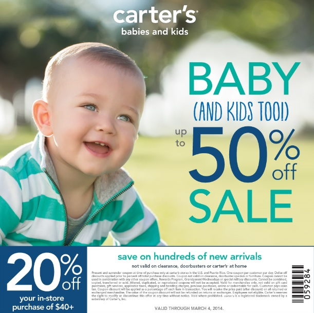 Carter's Babies and Kids Sale