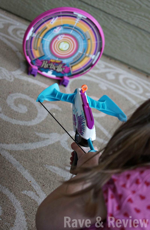 Nerf Rebelle target shot