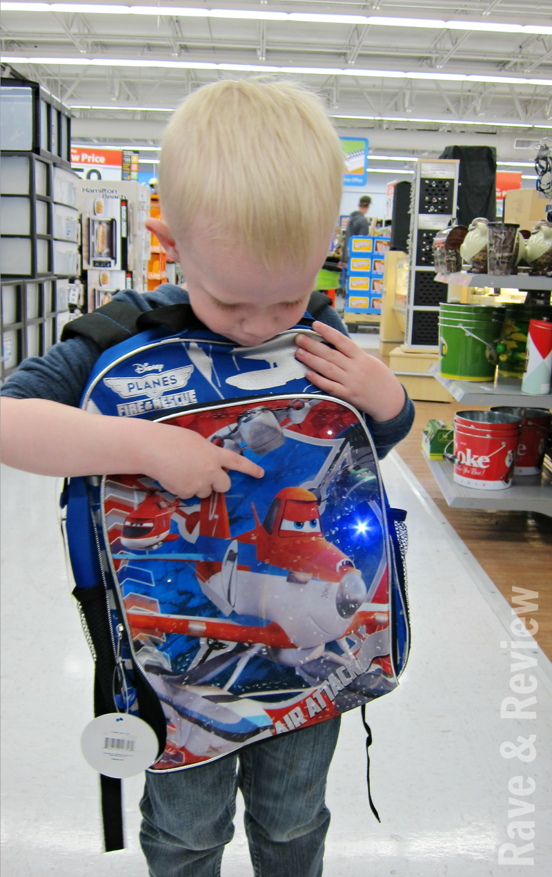 Light up Disney Planes backpack