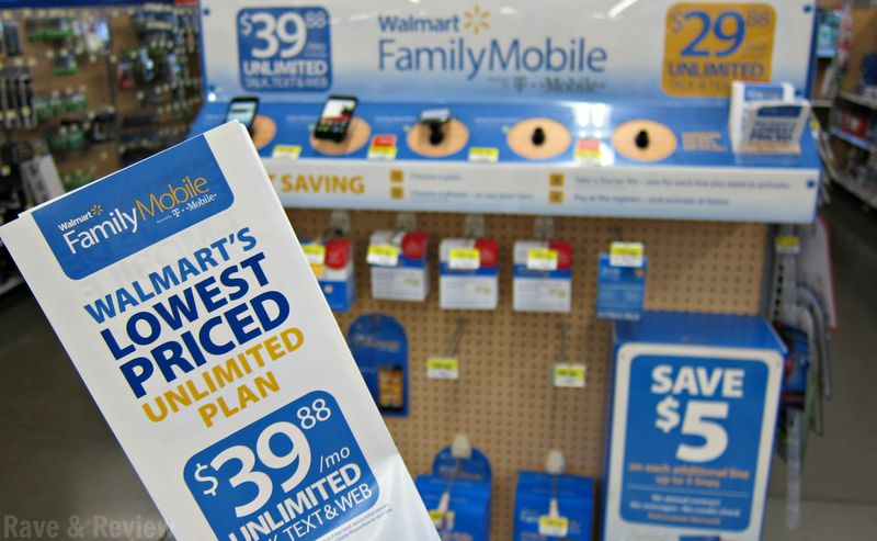 Family Mobile from Walmart brochure