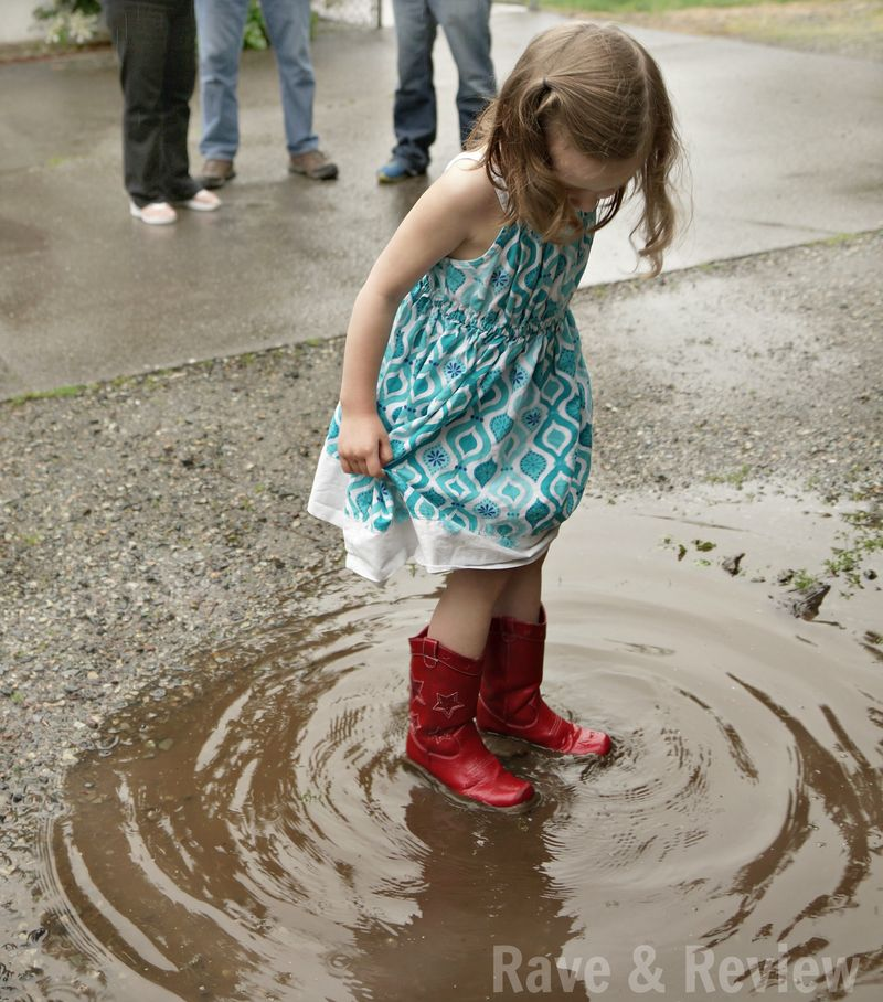 Puddle jumping in Gymboree