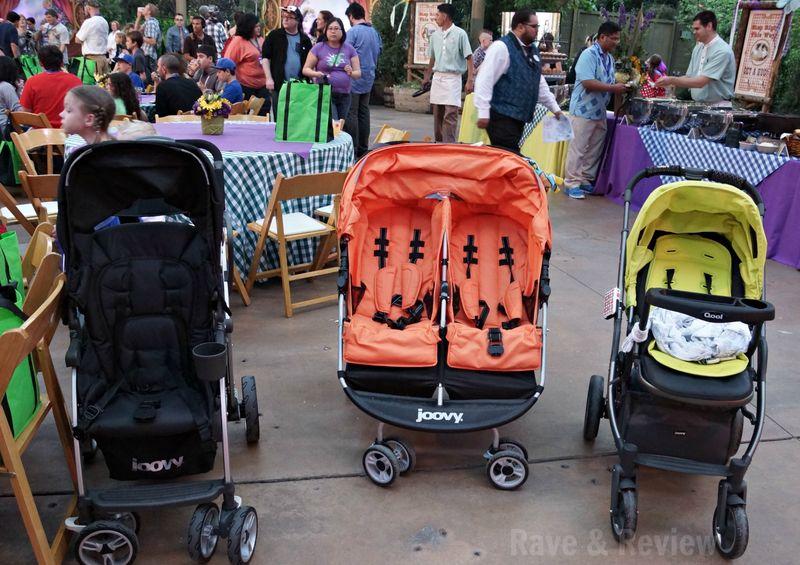 Empty Joovy strollers