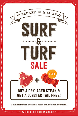 Whole Food surf and turf