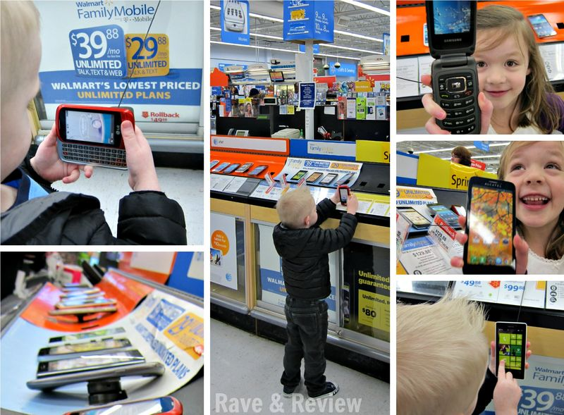 Shopping for cellphones at Walmart
