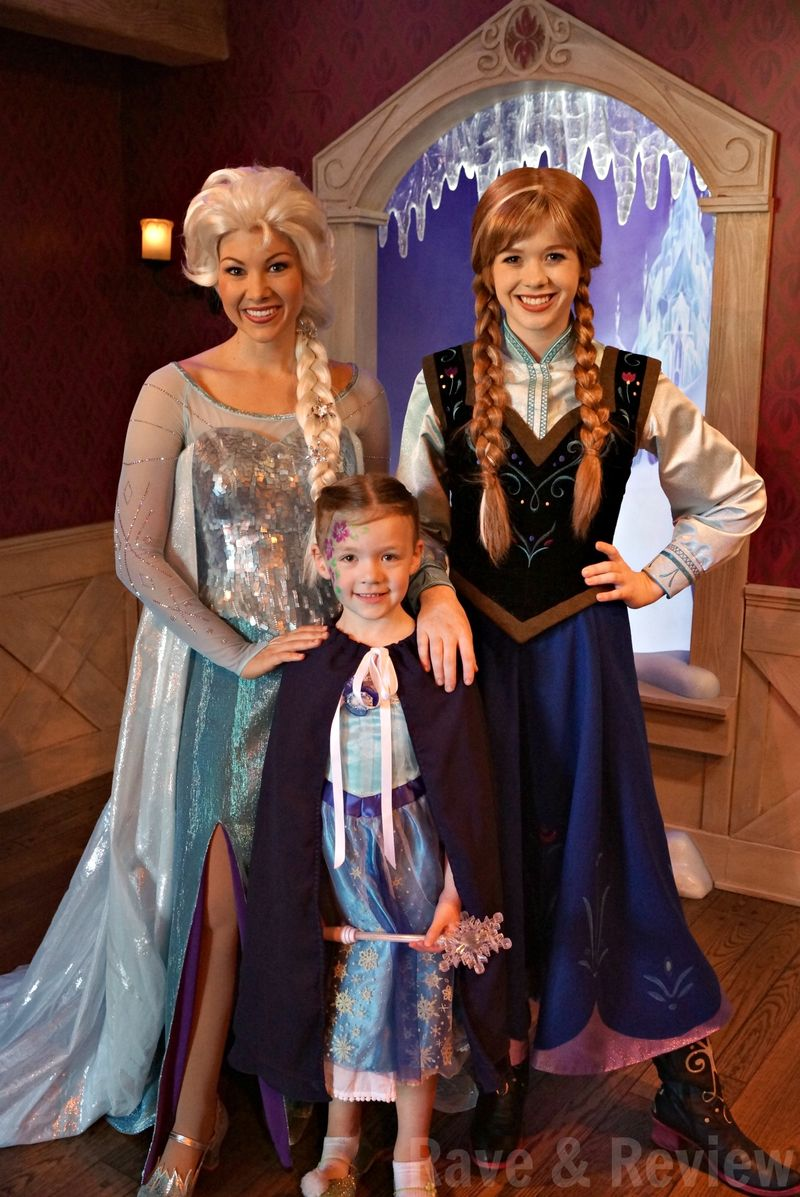 Anna and Elsa at Disneyland