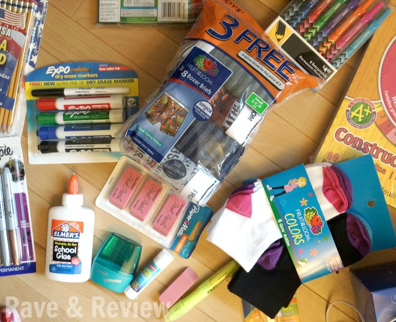Fruit of the Loom school supplies