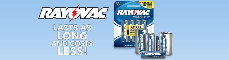 Rayovac costs less