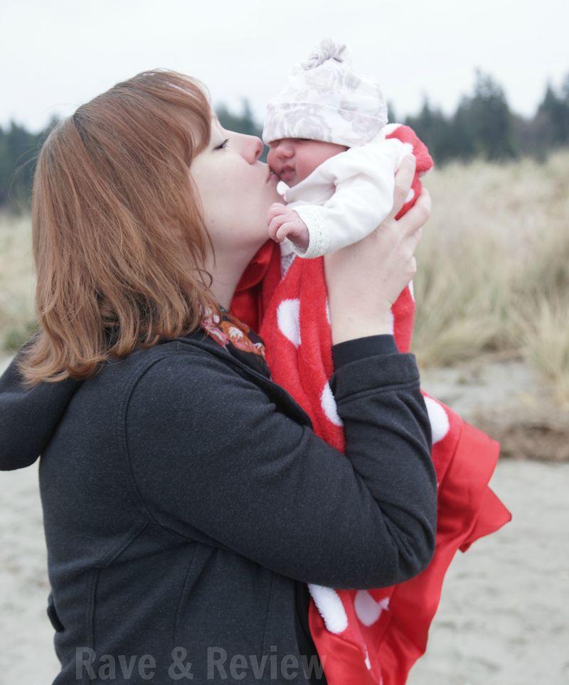 Kissing newborn