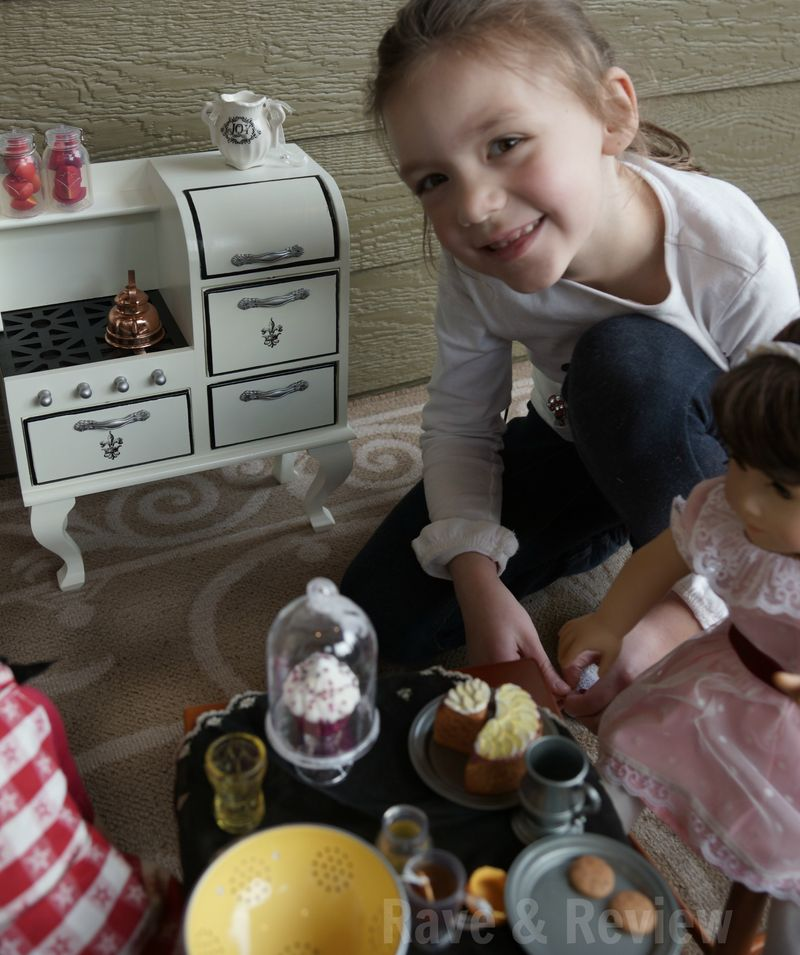 Doll kitchen and stove