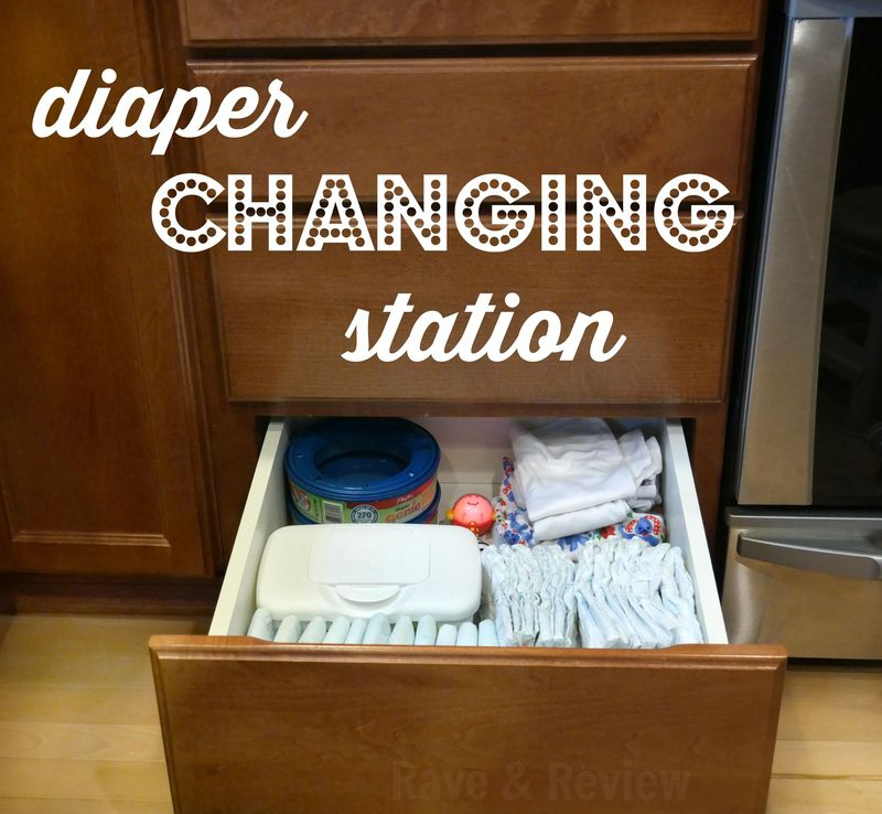 Diaper Genie diaper changing station