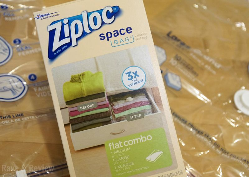 Ziploc Space Bag out of box