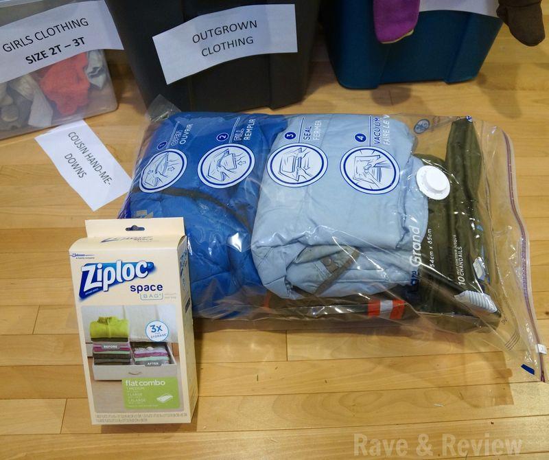 Ziple filling Space Bags