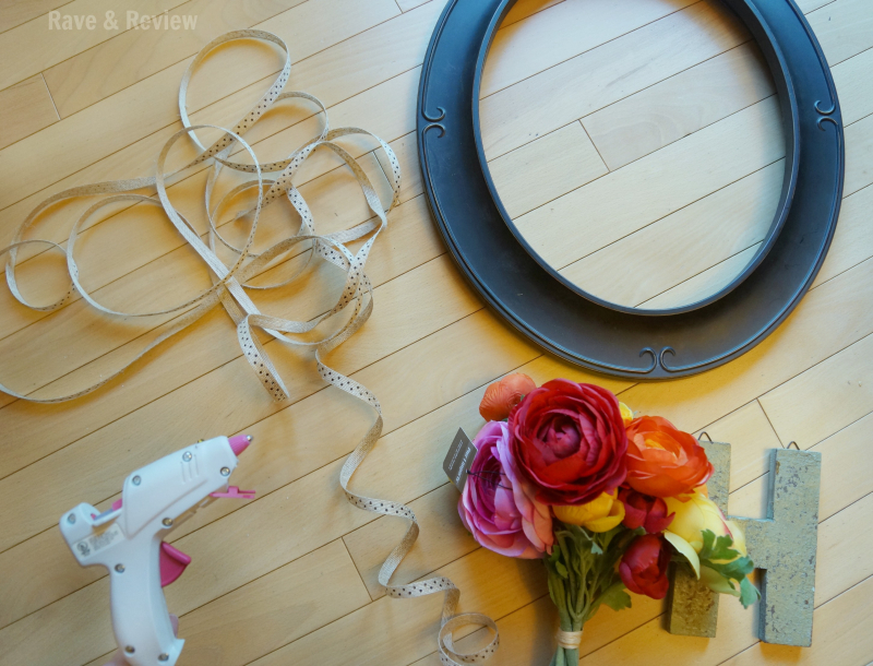 Picture frame wreath supplies