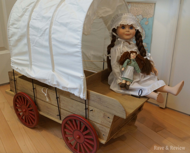 Laura in covered wagon