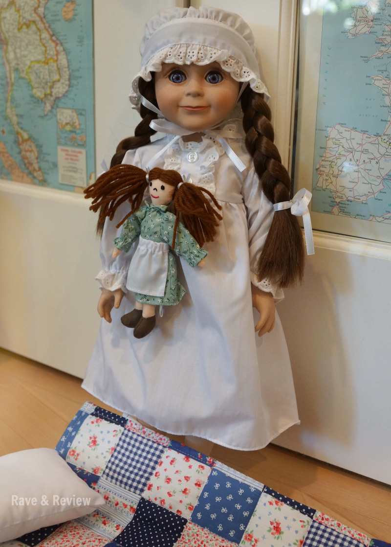 Laura Ingalls doll with blanket