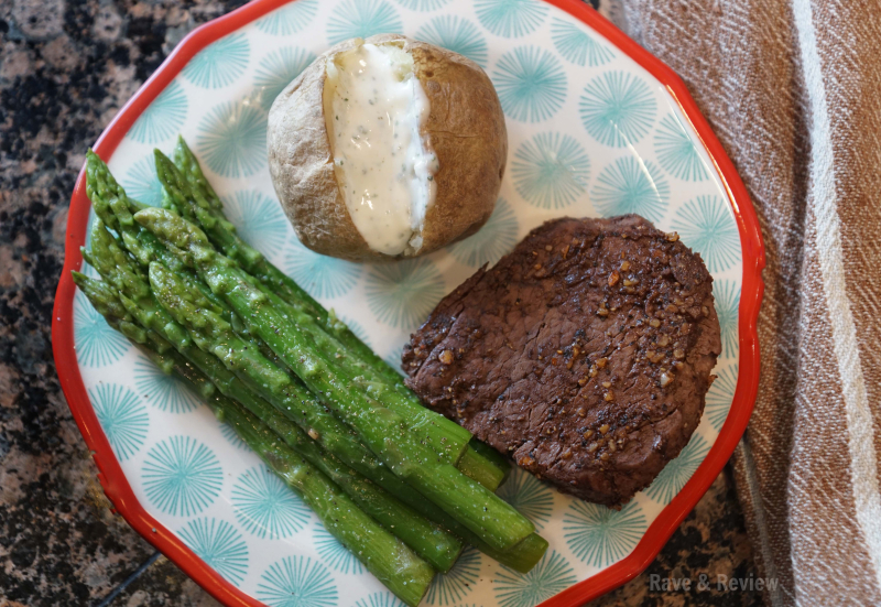 Snake River Farms steak meal