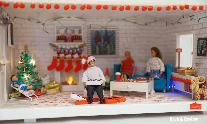 Lundby Christmas Living room set up