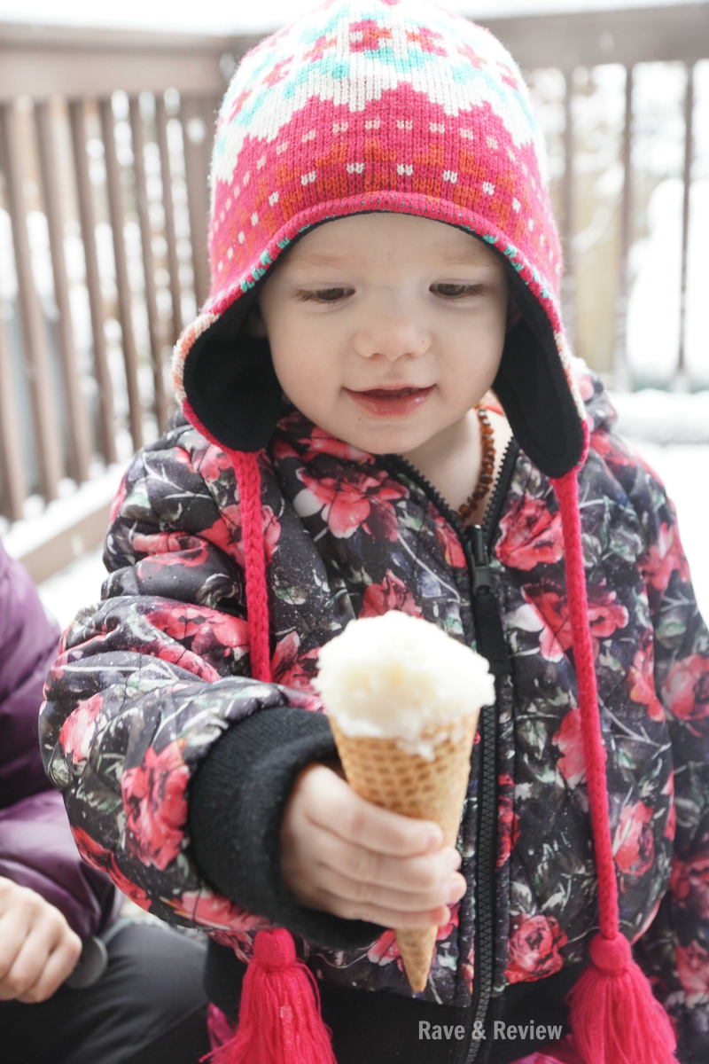 Snow ice cream baby