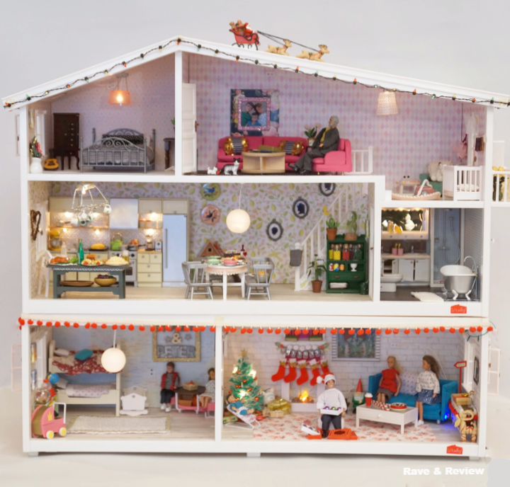 Lundby house at Christmas