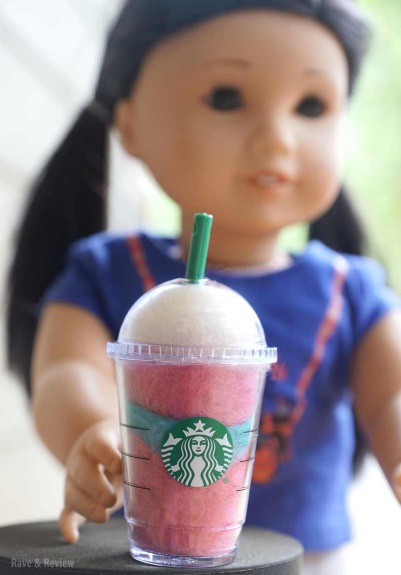 American Girl Z with Unicorn Frappucino