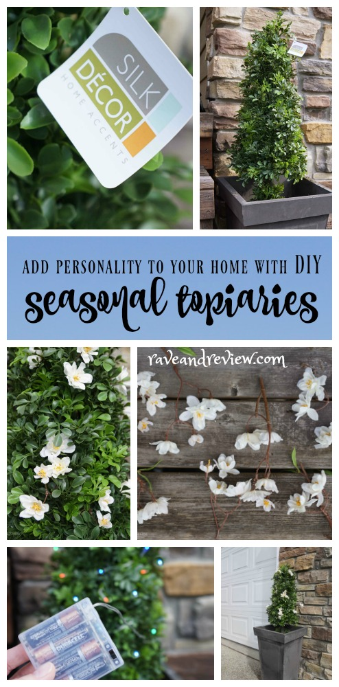 Add personality to your home with Seasonal Topiaries