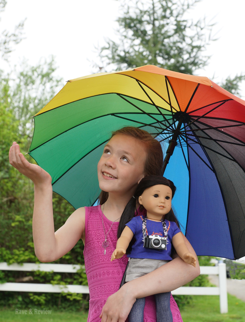 American Girl Z with umbrella