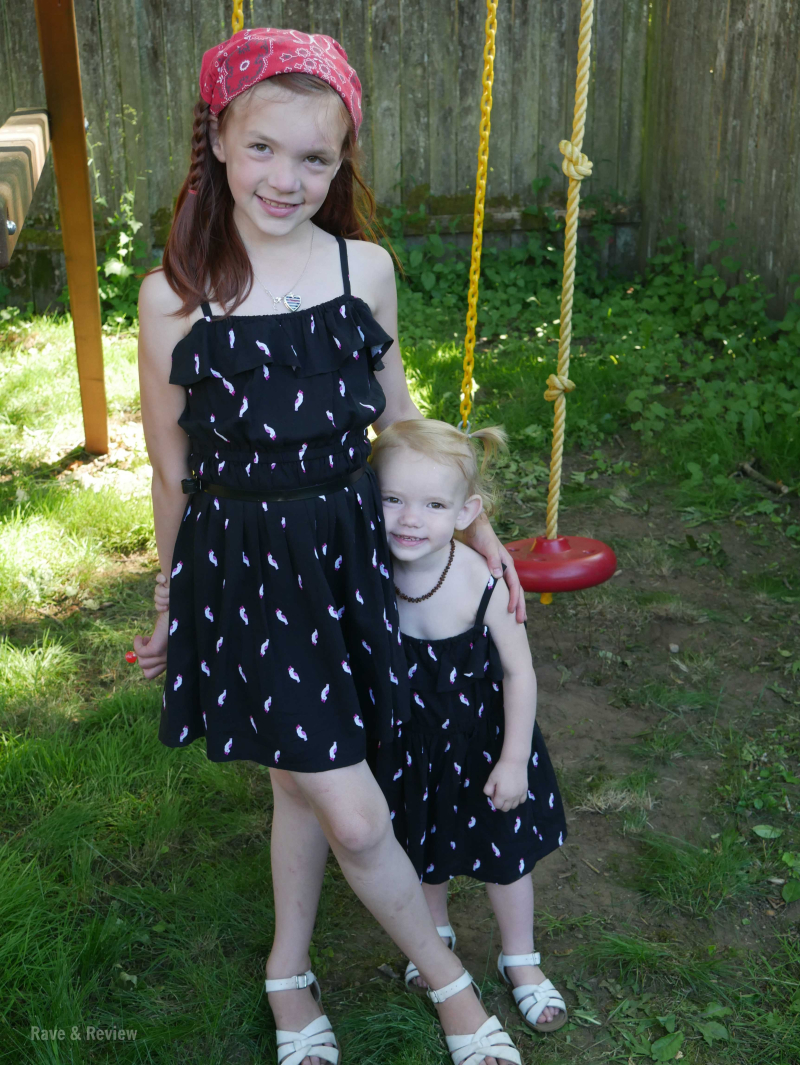 Gymboree dresses standing