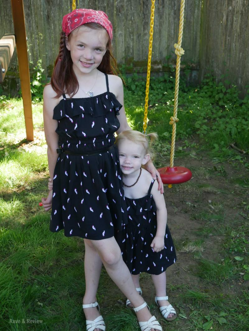 Gymboree dresses standing