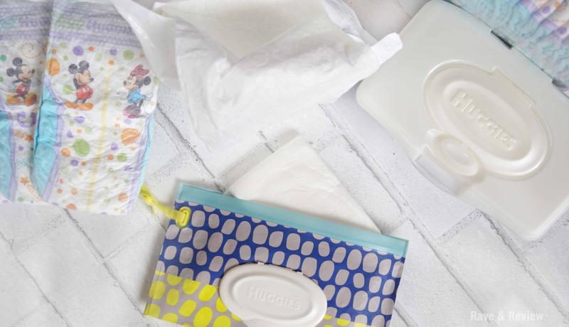Huggies diaper clutch contents