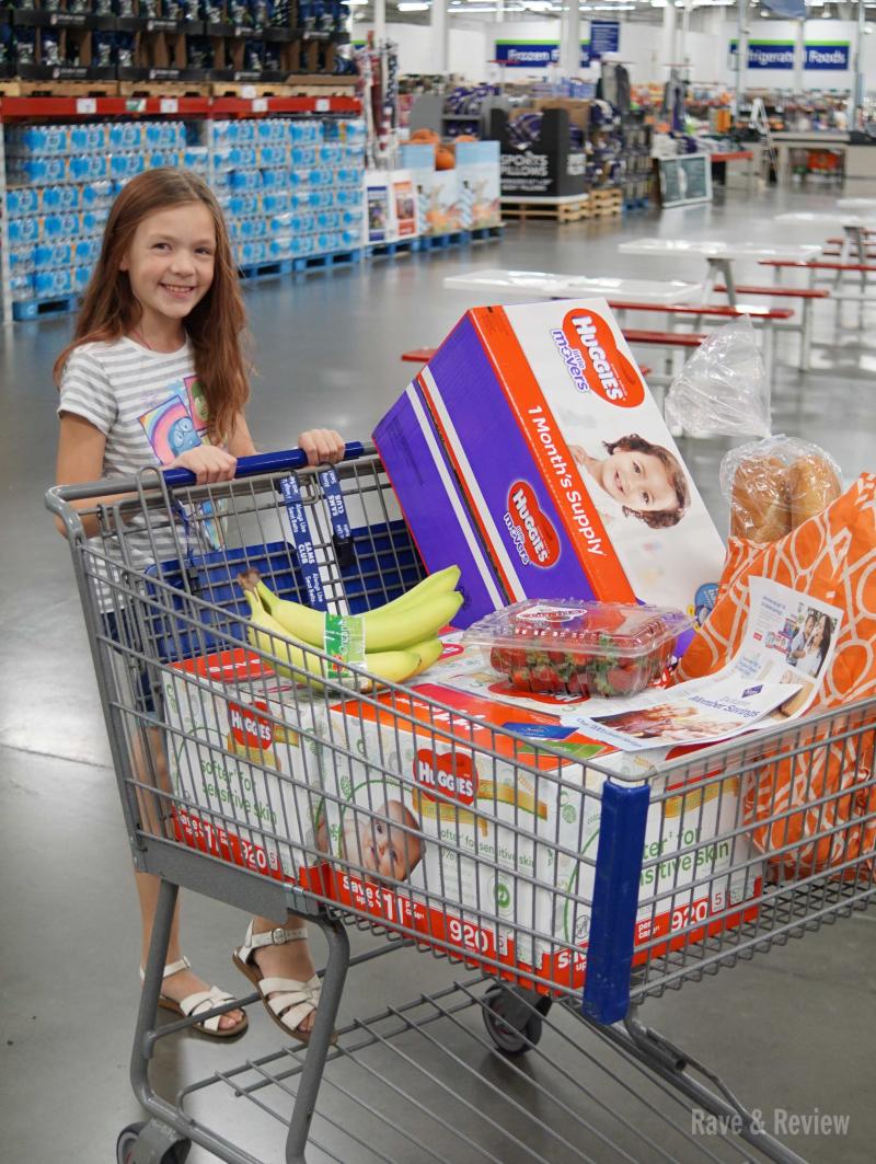 Sam's Club Huggies shopping